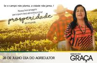 Vereadora Graça homenageia os agricultores pelo seu dia