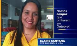 Elaine Santana é a vendedora destaque do mês de outubro da Center Móveis em Serrolândia