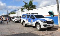 Polícia militar esteve presente no Colégio Clariezer na manhã de hoje após ameaça de ataque em Miguel Calmon