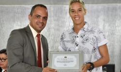 Serrolandense Gadú recebe Medalha do Mérito Esportivo na Câmara de Vereadores