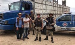 Polícia Militar recupera em Capim Grosso caminhão roubado no Pernambuco