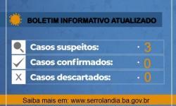 Boletim:Serrolândia tem três casos suspeitos de Coronavírus