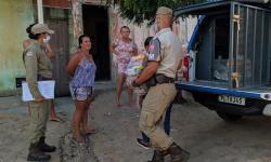 Polícia Militar no combate a fome e em combate ao COVID-19 Capim Grosso