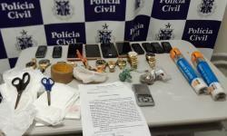 Suspeito de tráfico de drogas é preso com relógios e celulares roubados de loja na BA