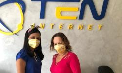Ten Internet distribui máscaras a clientes em combate ao COVID-19