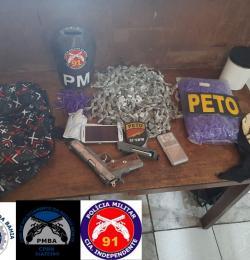 POLICIA APREENDE DROGAS E MATERIAL USADO PARA TRÁFICO EM VÁRZEA DA ROÇA