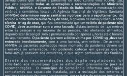 Prefeitura de Serrolândia emite nota oficial sobre valas no cemitério da cidade