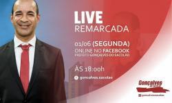 Prefeito de Serrolândia fará live na próxima segunda-feira dia 01