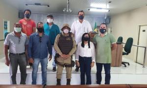 Presidente da Câmara promove reunião com o Major da Policia Militar da 91ª e membros do Legislativo de Serrolândia