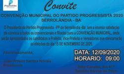 Partido Progressista convoca filiados para convenção partidária