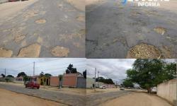População do distrito de Novo Paraíso mostra insatisfação com trecho de via cheio de buracos
