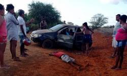 Homem fica ferido, vítima de capotamento em Caatinga do Moura de Jacobina