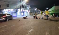 Motociclista fica ferido ao colidir com carro no centro de Jacobina
