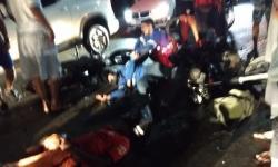 Colisão entre motos no Bairro da Caeira em Jacobina