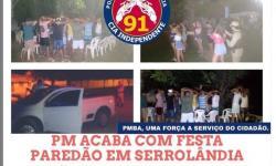 Polícia Militar acaba com festa de paredão em Serrolândia