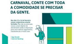 INFORMATIVO SICOOB SOBRE OS FERIADOS DE CARNAVAL