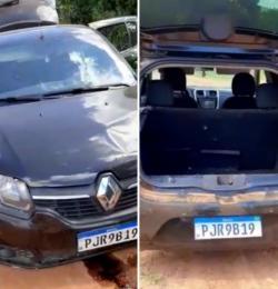 Carro usado em rapto de criança é localizado em Miguel Calmon; veja vídeo
