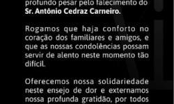 Sicoob Coopemar lamenta o falecimento do ex-prefeito Antônio Cedraz Carneiro