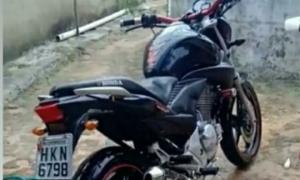 Moto roubada em Baraúnas de Caldeirão Grande dono promete gratificar quem tiver informações