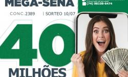 MEGA SENA PAGARÁ HOJE 40 MILHÕES