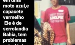 Serrolândia: Família procura por jovem desaparecido há uma semana