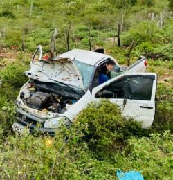 Acidente na BA 791 entre Quixabeira e Ramal