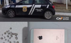 Jovem é preso em flagrante pela Polícia civil por tráfico de drogas e confessa assalto a mão armada