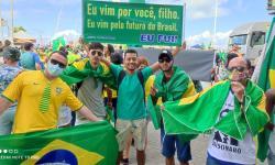 Serrolandenses apoiadores de Bolsonaro participam de grande ato Pró Bolsonaro no Farol da Barra, em Salvador
