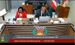 Sessão Ordinária da Câmara de Vereadores de Serrolândia dia 07 de junho de 2019