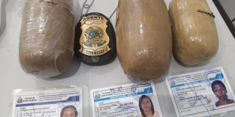 Mulheres são presas após tentarem entrar com drogas no Conjunto Penal de Feira