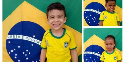 Crianças da Creche Anita Menezes se vestem para comemorar o 7 de Setembro: Veja as fotos