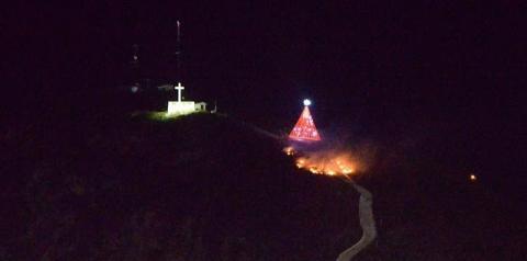 Incêndio na Serra do Cruzeiro em Jacobina