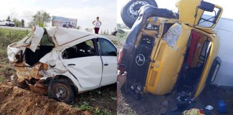 Motorista de carro de passeio fica ferido após caminhão atingir a traseira próximo a Riachão do Jacuípe