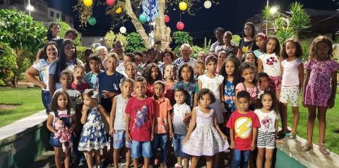 Alunos da comunidade Lagoa dos Veados visitam Natal de Jacobina.