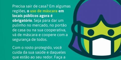 SICOOB INFORMA: O uso de máscaras agora é obrigatório