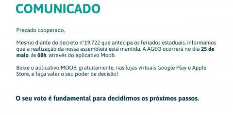 Participe da Assembleia Virtual do Sicoob Coopemar