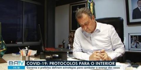 Proibição de circulação de infectados, internamento precoce e abertura de leitos: Rui Costa anuncia medidas para interior da BA