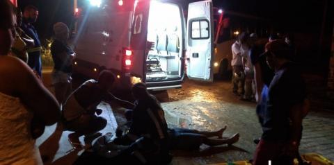 Acidente envolvendo moto e carro é registrado no bairro Novo Amanhecer em Jacobina