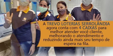 AGORA SÃO 4 CAIXAS NA LOTÉRICA DE SERROLÂNDIA