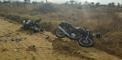 Acidente envolvendo duas motocicletas deixa quatro feridos em Quixabeira
