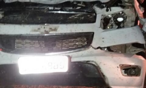 Animal na pista causa acidente na BA-130, entre Várzea da Roça e São José do Jacuípe