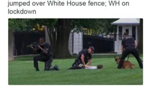 Acesso à Casa Branca é bloqueado após homem invadir jardim