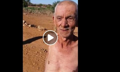 Idoso perdido em Ibititá/Ba diz em vídeo ser de Ruy Barbosa e ter filhos em Serrolândia