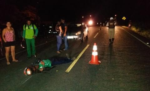 Homem fica ferido ao colidir moto com animal na pista entre Jacobina e Miguel Calmon
