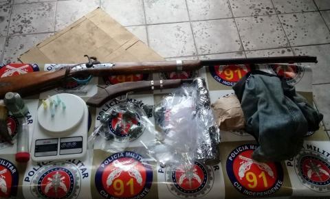 Polícia Militar prende três homens em flagrante no município de Mairi
