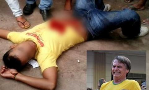 Notícia de que um jovem morreu ao se esfaquear tentando mostrar que a facada em Bolsonaro foi falsa