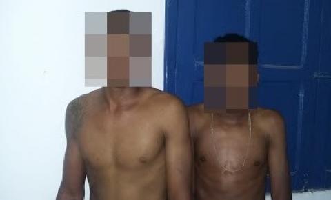Guarda de Jacobina prende dois jovens de Serrolândia após assalto a uma pizzaria no distrito do Junco