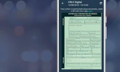 Documento digital de veículos é lançado