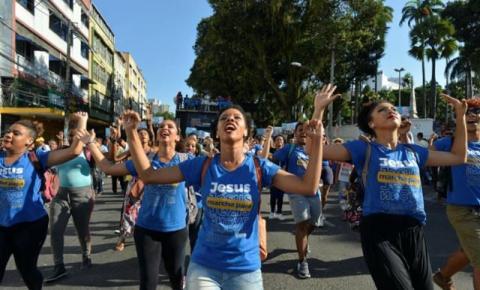 Marcha para Jesus movimenta centro de Salvador. veja imagens
