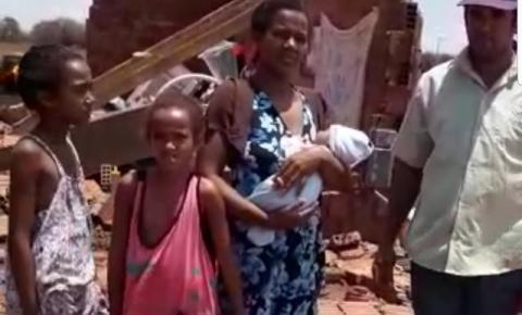 Família que teve casa destruída pela chuva em Umburanas precisa de ajuda